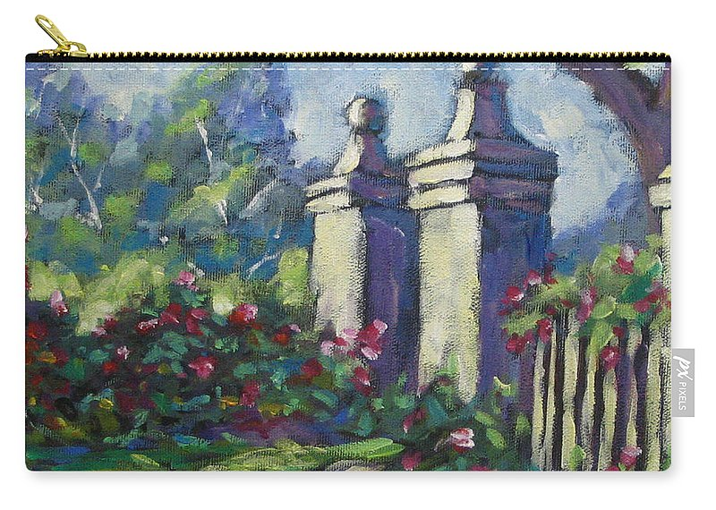 Rose Carry-all Pouch featuring the painting Rose Garden by Richard T Pranke