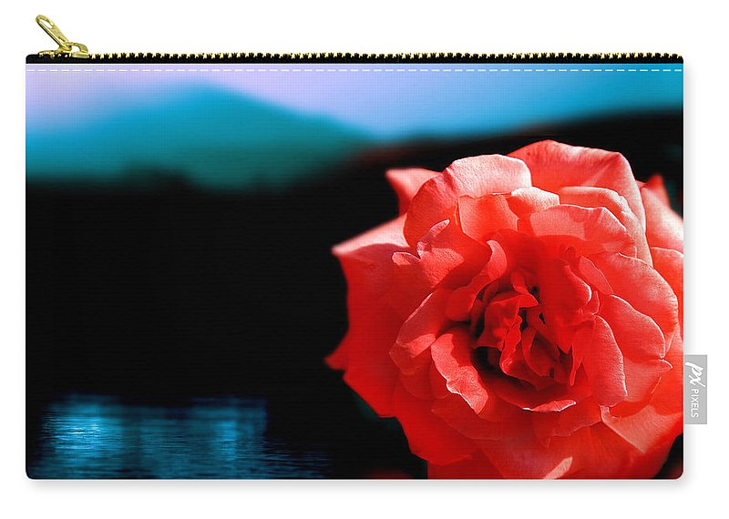 Rose Carry-all Pouch featuring the photograph Rose Lake by Mal Bray