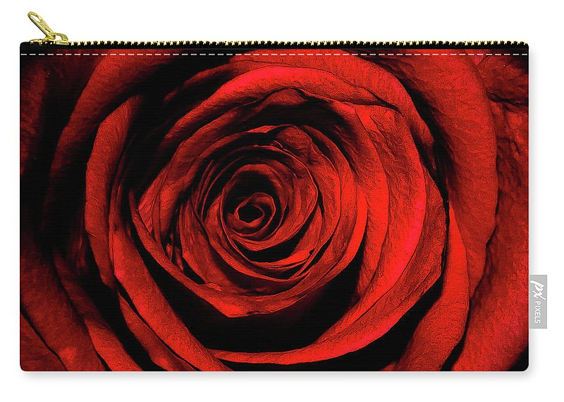 Rose Carry-all Pouch featuring the photograph Rose by Lee Pirie