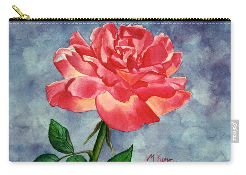 Rose Carry-all Pouch featuring the painting Rose by Melissa Joyfully