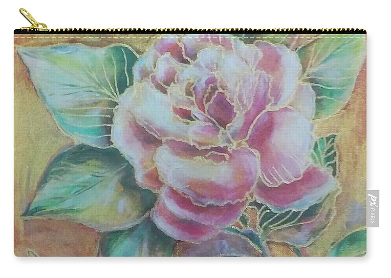 Vogue Carry-all Pouch featuring the painting Rose Of Paris by Angelina Andria Lane