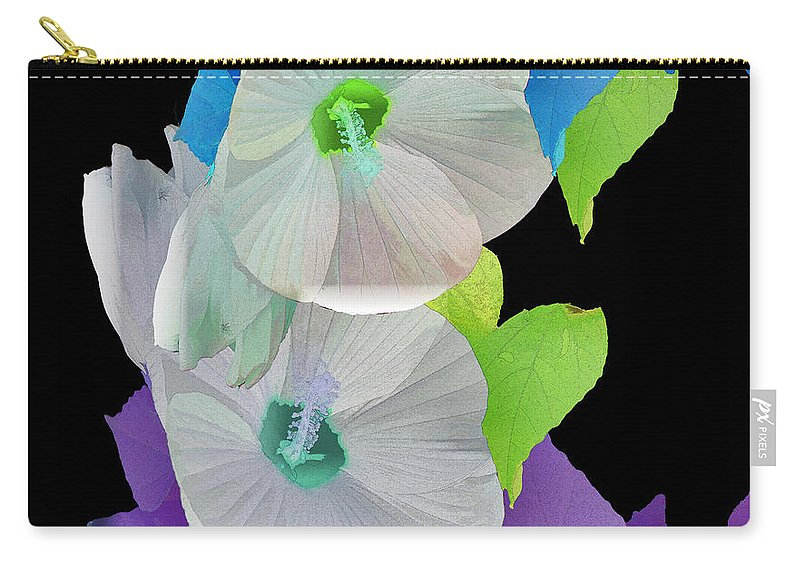 Rose Of Sharon Carry-all Pouch featuring the photograph Rose Of Sharon Painted by Ericamaxine Price