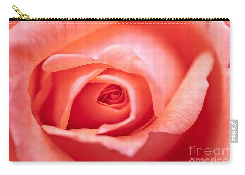Abstract Carry-all Pouch featuring the photograph Rose Petals by Michal Boubin