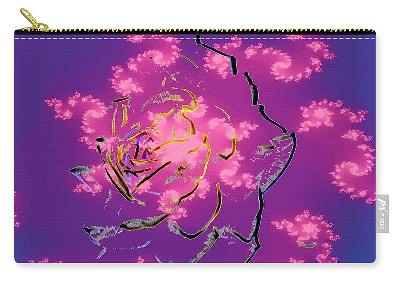 Rose Carry-all Pouch featuring the digital art Rose by Tim Allen
