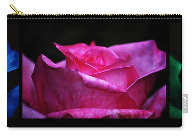 Clay Carry-all Pouch featuring the photograph Rose Tryptich by Clayton Bruster