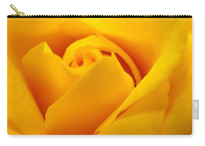 Rose Carry-all Pouch featuring the photograph Rose Yellow by Rhonda Barrett