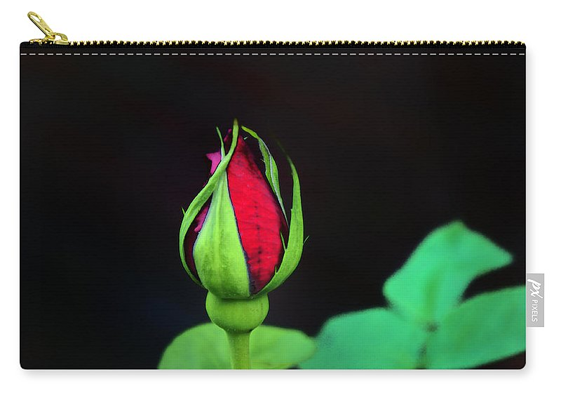 Rose Carry-all Pouch featuring the photograph Rosebud by Bill Cannon