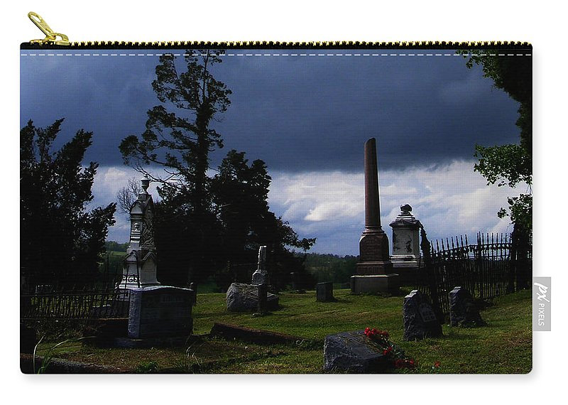 Landscape Carry-all Pouch featuring the photograph Roses After The Storm by Rachel Christine Nowicki