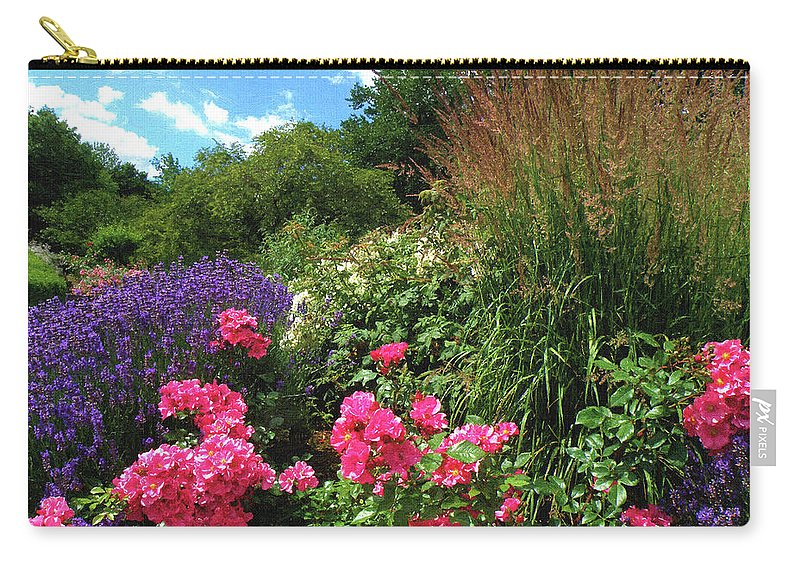 Nature Carry-all Pouch featuring the digital art Roses by Alex Lim