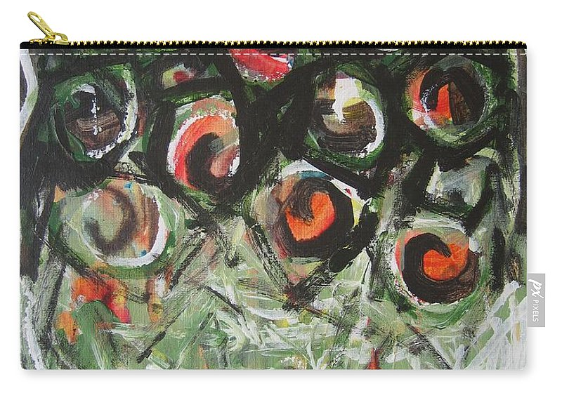 Abstract Painting Carry-all Pouch featuring the painting Roses by Seon-Jeong Kim
