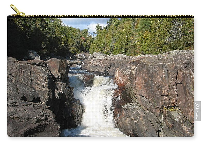 Waterfall Carry-all Pouch featuring the photograph Rosetone Falls by Kelly Mezzapelle