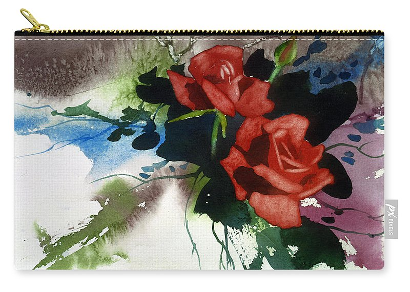 Roses Carry-all Pouch featuring the painting Rosewood by Dale Cooper