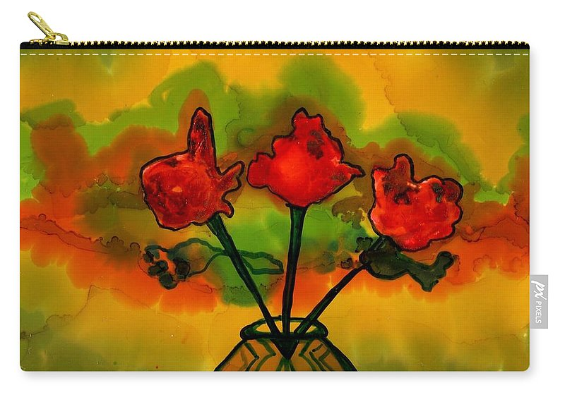 Vivid Colors Carry-all Pouch featuring the painting Rosey Afternoon by Lyn Hayes