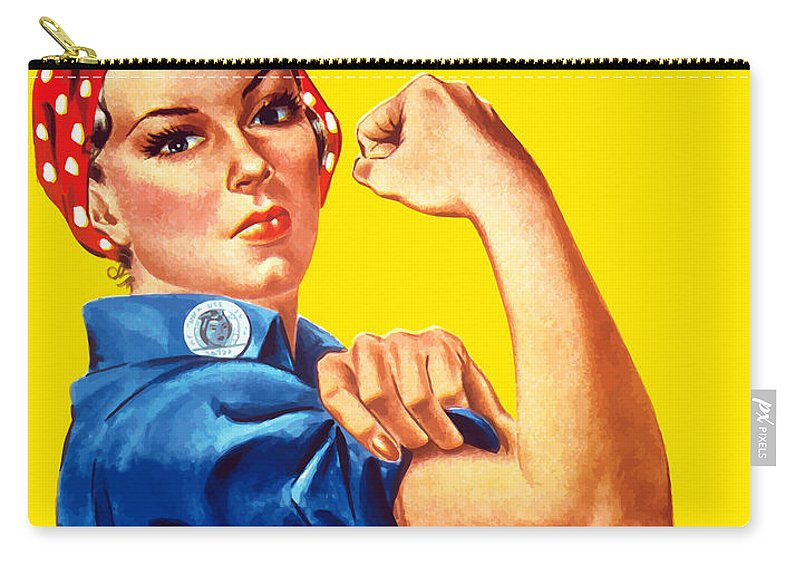 Rosie The Riveter Carry-all Pouch featuring the painting Rosie The Rivetor by War Is Hell Store