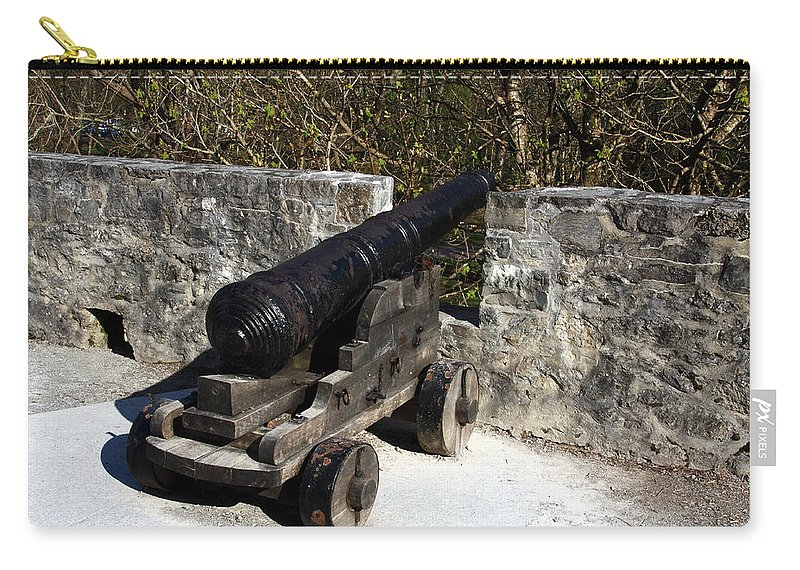 Castle Carry-all Pouch featuring the photograph Ross Castle Canon by Aidan Moran