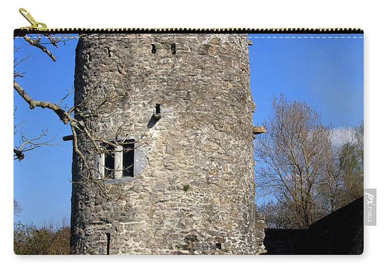 Ireland Carry-all Pouch featuring the photograph Ross Castle Tower by Aidan Moran