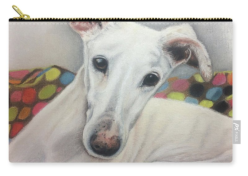 Dog Carry-all Pouch featuring the pastel Rossi by Sharon Macdonald