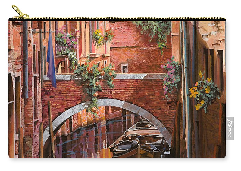 Venice Carry-all Pouch featuring the painting Rosso Veneziano by Guido Borelli