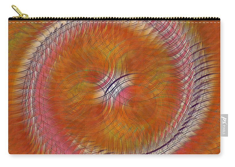 Abstract Art Carry-all Pouch featuring the digital art Revolve by Iris Gelbart