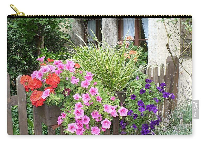 Garden Carry-all Pouch featuring the photograph Rothenburg Flower Box by Carol Groenen
