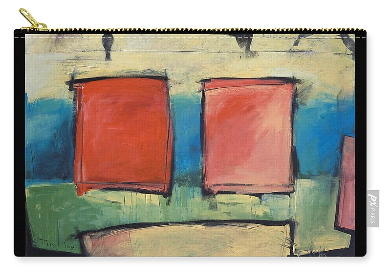 Rothko Carry-all Pouch featuring the painting Rothko Meets Hitchcock - Poster by Tim Nyberg