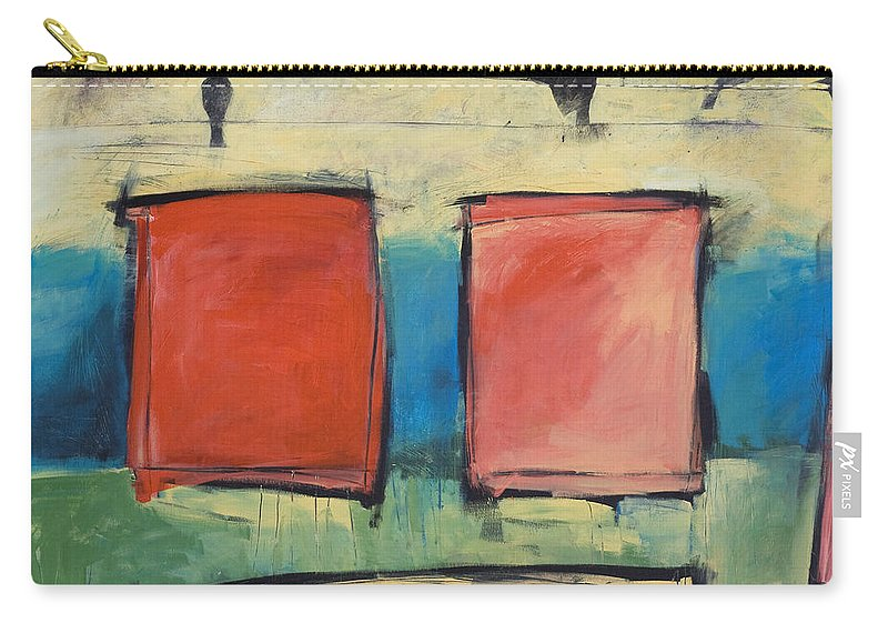 Rothko Carry-all Pouch featuring the painting Rothko Meets Hitchcock by Tim Nyberg