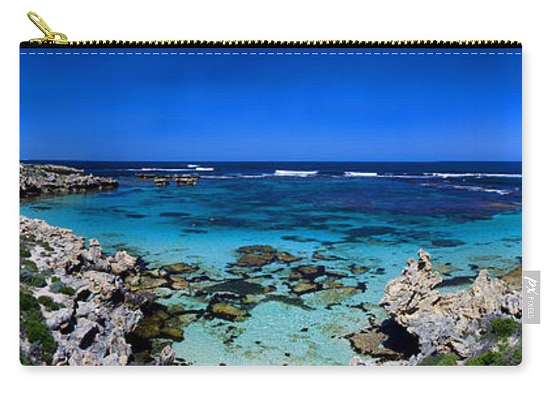 Rottnest Carry-all Pouch featuring the photograph Rottnest Panorama by Rob Hawkins