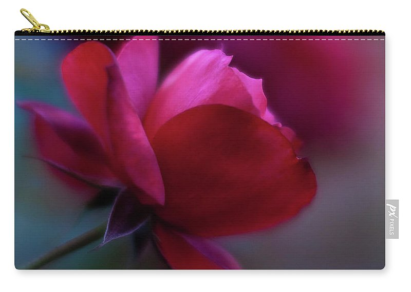 Red Carry-all Pouch featuring the photograph Rouge by Mike Reid