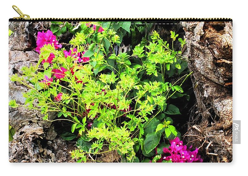 Flowers Carry-all Pouch featuring the photograph Rough Beauty by Ian MacDonald