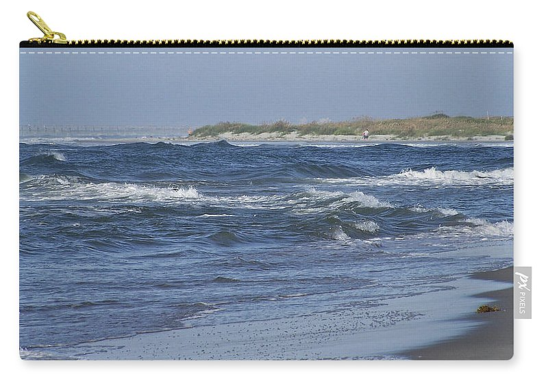 Ocean Carry-all Pouch featuring the photograph Rough Day At The Beach by Teresa Mucha