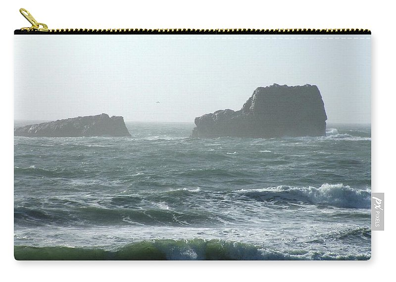 Oceanes Carry-all Pouch featuring the photograph Rough Waters by Shari Chavira