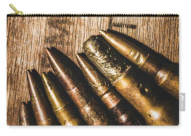 Bullets Carry-all Pouch featuring the photograph Rounds Of Historic Battle by Jorgo Photography - Wall Art Gallery
