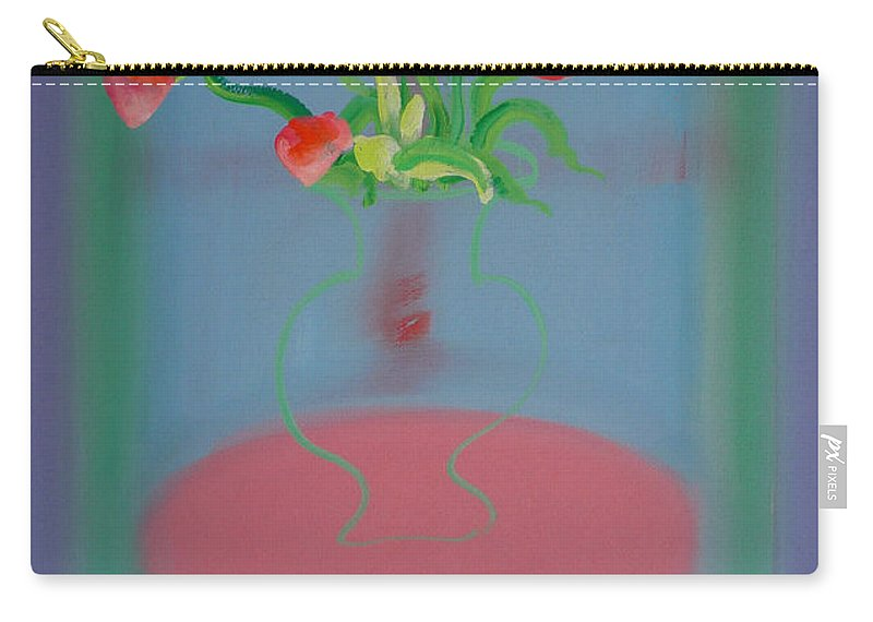 Flower Carry-all Pouch featuring the painting Rouseau Flowers by Charles Stuart