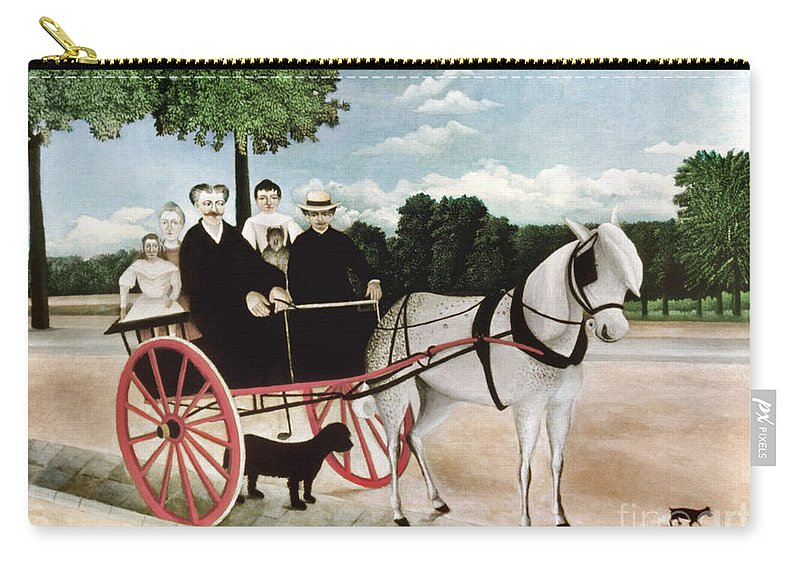 1908 Carry-all Pouch featuring the photograph Rousseau: Cart, 1908 by Granger