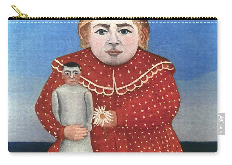 1906 Carry-all Pouch featuring the photograph Rousseau: Child/doll, C1906 by Granger