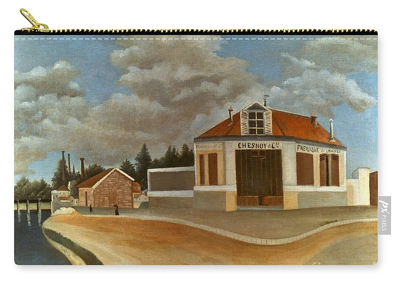 1897 Carry-all Pouch featuring the photograph Rousseau: Factory, C1897 by Granger