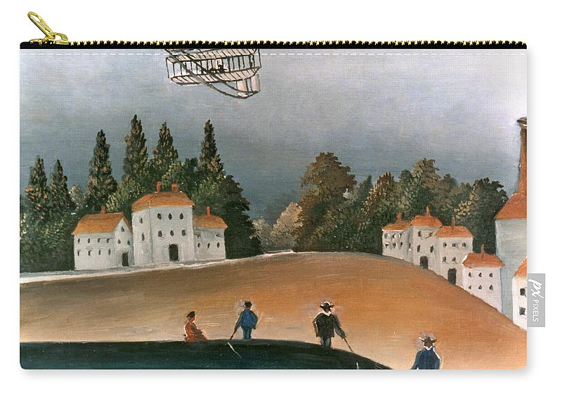 1908 Carry-all Pouch featuring the photograph Rousseau: Fishermen, 1908 by Granger