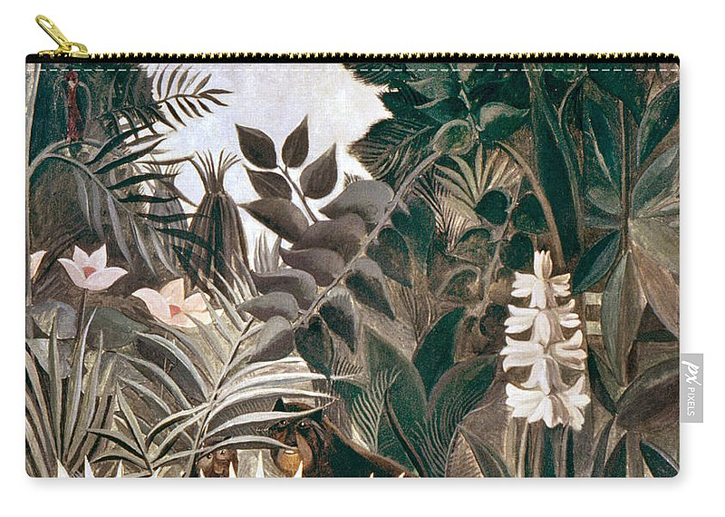 1909 Carry-all Pouch featuring the photograph Rousseau: Jungle, 1909 by Granger