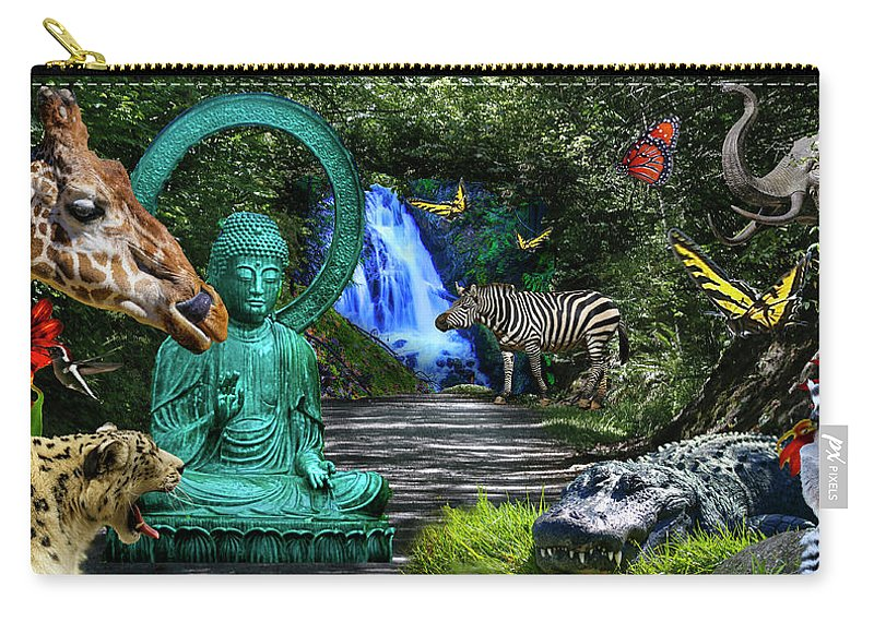 Rousseau Carry-all Pouch featuring the photograph Rousseau's Garden by Dan Earle