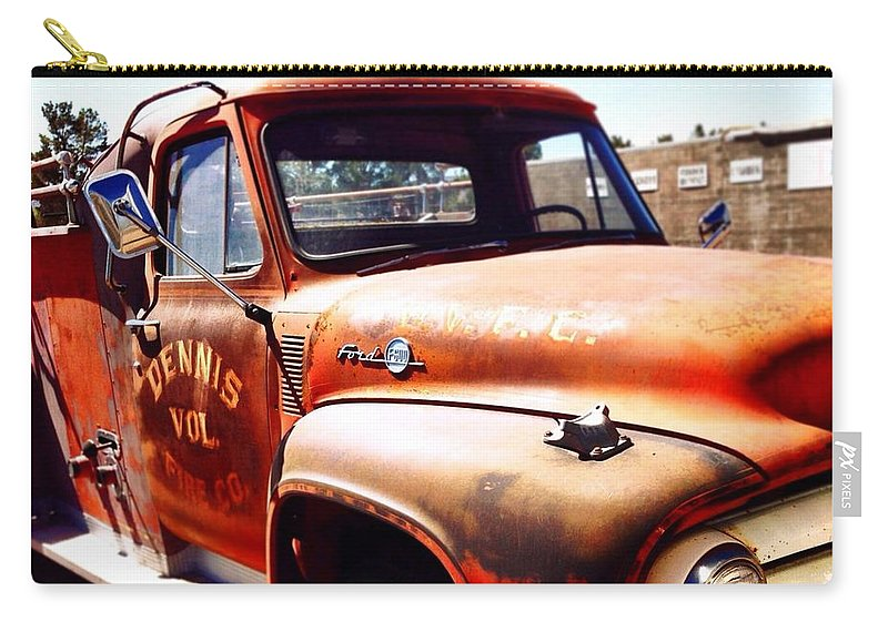Fire Truck Carry-all Pouch featuring the photograph Route 66 by Mark David Gerson