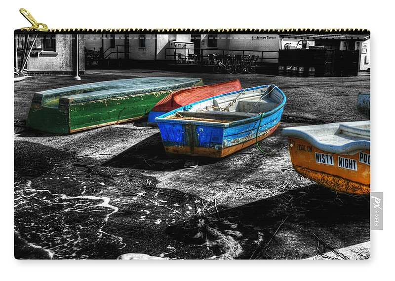 Rowing Carry-all Pouch featuring the photograph Row Boats At Mudeford by Chris Day