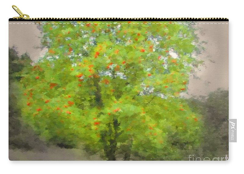 Art Carry-all Pouch featuring the mixed media Rowan by Miroslav Nemecek