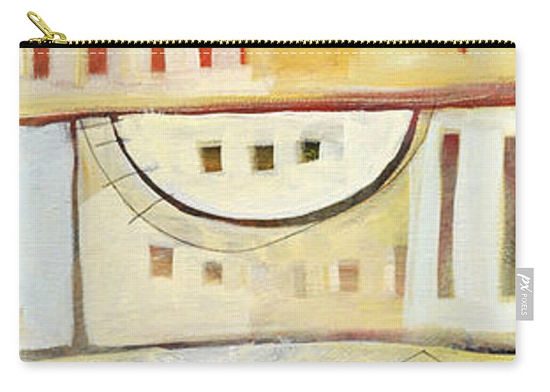 House Carry-all Pouch featuring the painting Rowhouse No. 1 by Tim Nyberg