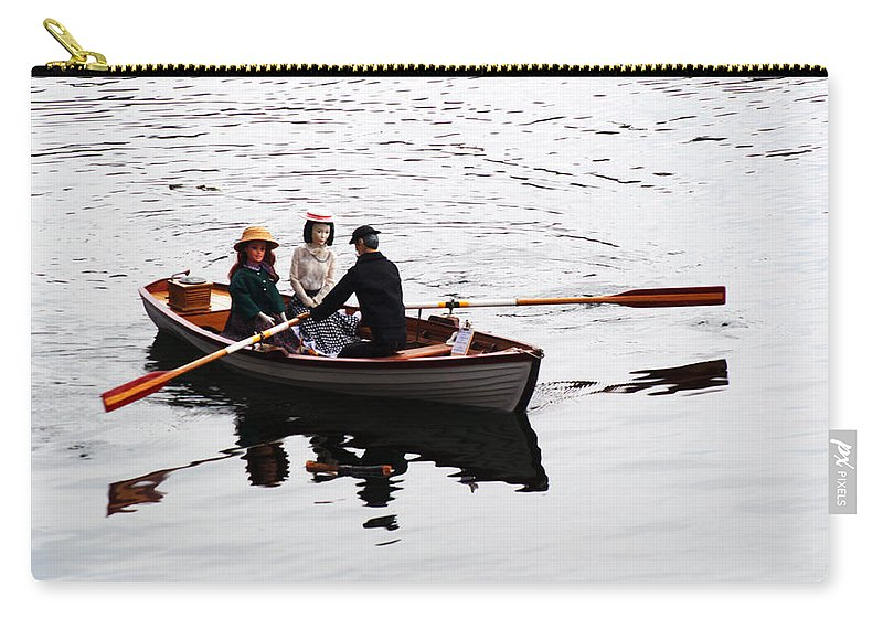 Remote Control Carry-all Pouch featuring the photograph Rowing Boat by Chris Day