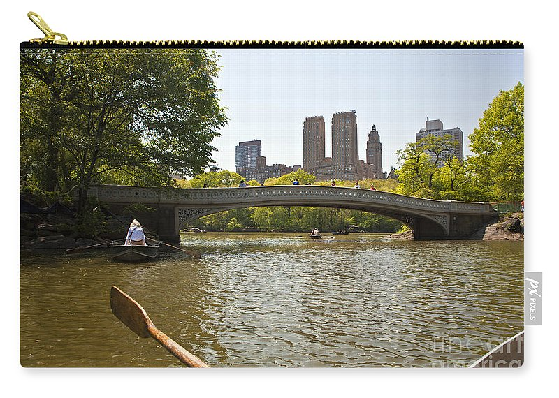 Row Carry-all Pouch featuring the photograph Rowing In Central Park by Madeline Ellis