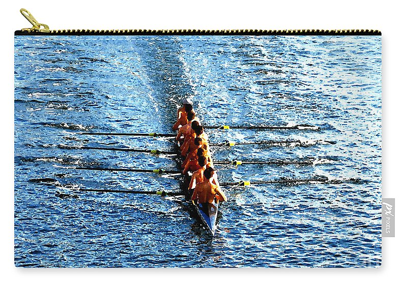 Rowing Carry-all Pouch featuring the photograph Rowing In by David Lee Thompson