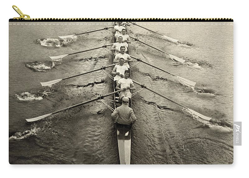 1913 Carry-all Pouch featuring the photograph Rowing Team, C1913 by Granger