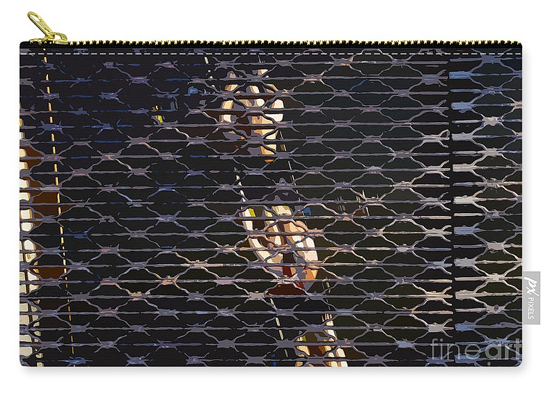 Sculling Carry-all Pouch featuring the painting Rowing Through The Grate by David Lee Thompson