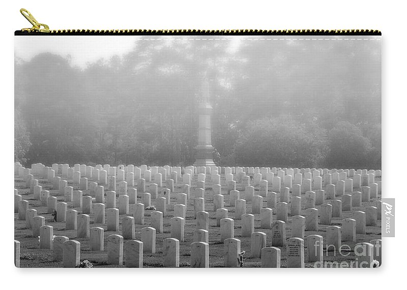 Andersonville Carry-all Pouch featuring the photograph Rows Of Heros by Tommy Anderson