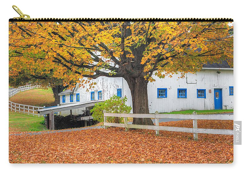 Bucolic Carry-all Pouch featuring the photograph Roxbury Connecticut Barn by Bill Wakeley